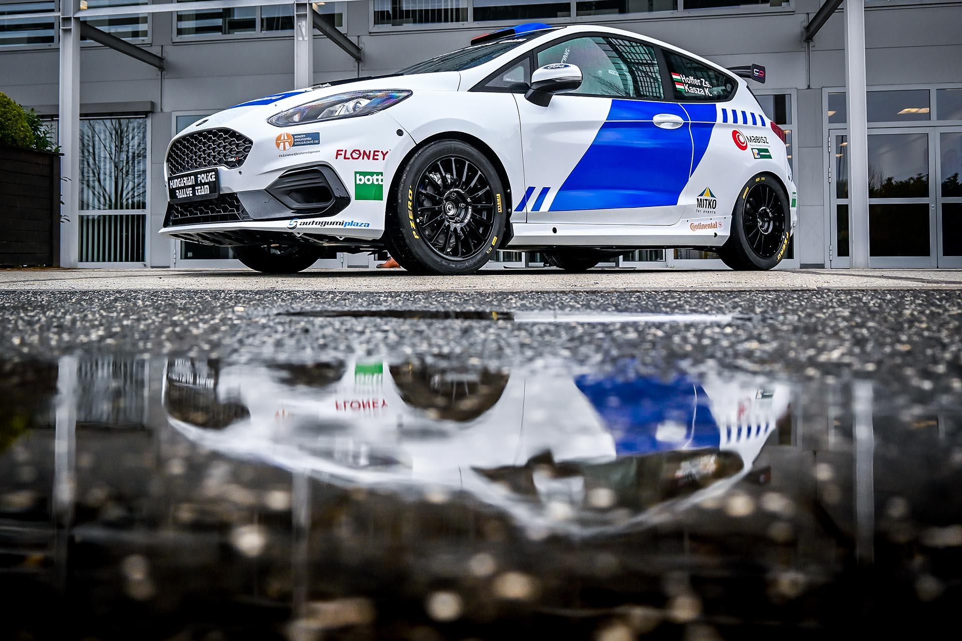 Ford és a Hungarian Police Rally Team